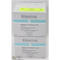 2 BOXES OF KERASTASE SENSIDOTE DERMO CALM MASQUE