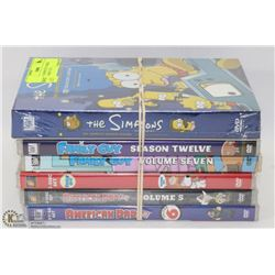 LOT OF 6 ASSORTED TV SERIES DVD'S - FAMILY GUY,