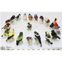 LOT OF 20 DIFFERENT CANADIAN BIRD FIGURINES