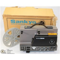 SANKYO SUPER 8 PROJECTOR WITH BOX.