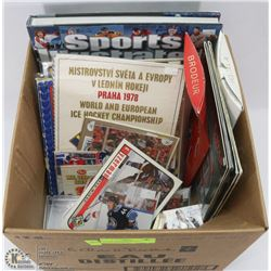 LOT OF ASSORTED HOCKEY COLLECTIBLES INCL