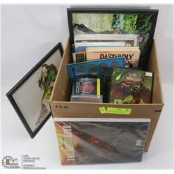 LOT OF ASSORTED COLLECTIBLES INCL CHAOTIC, WARCRAFT