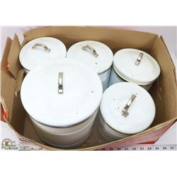LOT OF 5 KITCHEN CANISTERS