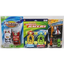 BUNDLE OF NEW KIDS RACING CARS