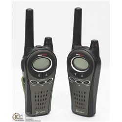 ONE PAIR COBRA WALKIE TALKIES - TESTED AND WORKING