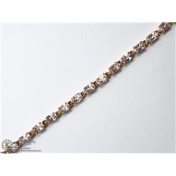 4) STERLING SILVER GOLD PLATED MORGANITE BRACELET