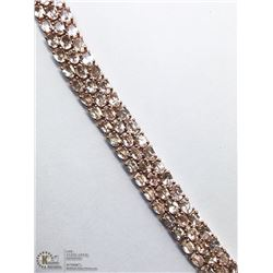 49) STERLING SILVER MORGANITE BRACELET