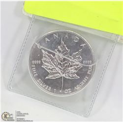 .999 SILVER ONE TROY OUNCE MAPLE LEAF COIN