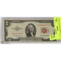 US 1953 A SERIES RED SEAL $2 BILL