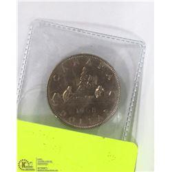 1968 CANADIAN DOLLAR CANOE COIN