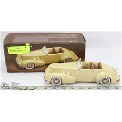 VINTAGE 1937 CERAMIC CORD CONVERTIBLE CAR AVON