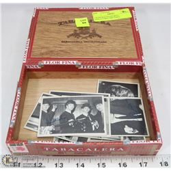 CIGAR BOX FILLED WITH COLLECTIBLE 1964 TOPP'S