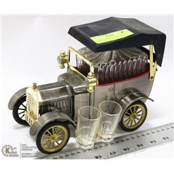 "VINTAGE MODEL T MUSICAL DECANTER SET, PLAYS "" HOW"