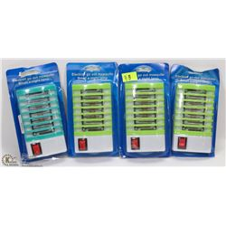 LOT OF 4 NEW WALL PLUG BUGZAPPERS