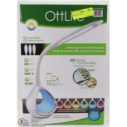 OTTLITE LED DESK LAMP WITH 3 COLOR MODES