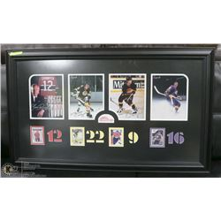 SIGNED AND FRAMED NHL HOCKEY DISPLAY 45 X 27