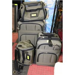 4PC GREEN SKYWAY LUGGAGE SET