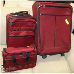 3PC RED SKYWAY LUGGAGE SET