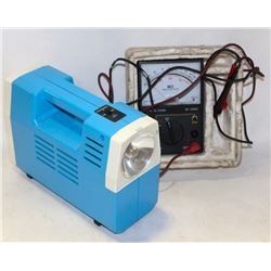 LOT WITH ELECTRIC VOLTAGE METER AND PORTABLE AIR