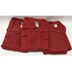 LOT OF 3 NEW BULWARK COVERALLS SIZE: 48-REGULAR