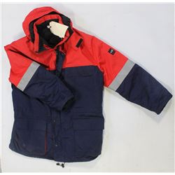 FRISTADS BRAND RED/BLUE FR PADDED COAT-NEW