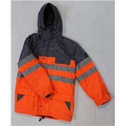 FRISTADS HI-VIZ PADDED LONG-COAT SIZE: 54-LARGE