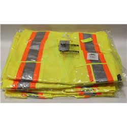 LOT OF 6 CONDOR HI-VIZ SAFETY VEST SIZE: 2-3XL