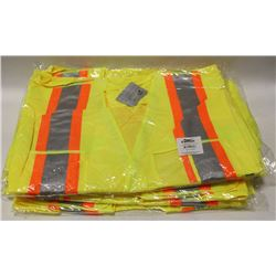LOT OF 5 CONDOR HI-VIZ SAFETY VEST SIZE: 2-3XL