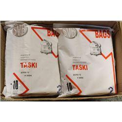 CASE OF 8 TASKI VACCUM BAGS