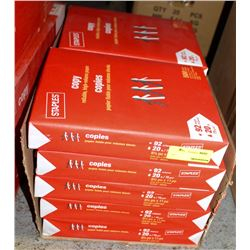 CASE OF 8.5 X 11 STAPLES BRAND COPY PAPER