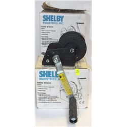 LOT OF 3 SHELBY HAND WINCHES