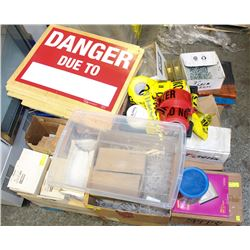 PALLET OF ASSORTED FASTENERS, ANCHOR SYSTEMS,