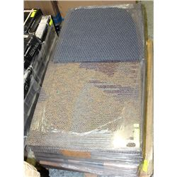 SMALL SKID OF ASSORTED CARPET TILE SQUARES