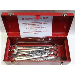 WESTWARD TOOL BOX WITH STANDARD AND METRIC