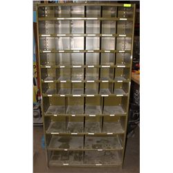 48 ASSORTED COMPARTMENT BOLTS AND PARTS ORGANIZER