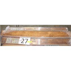 "PALLET #27) LOT OF LAMIINATE SMOKED OAK 4.5""X54"""