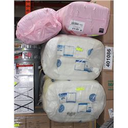 2 PINK, 2 WHITE BUNDLES OF RESIDENTIAL INSULATION