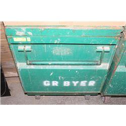 GREENLEE SHOP TOOL BOX ON CASTORS ON CHOICE