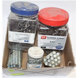 CASE OF ASSORTED COMMERCIAL SCREWS WOOD FINISHING