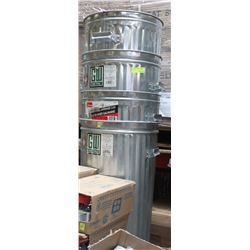 4 ALUMINUM GARBAGE CANS