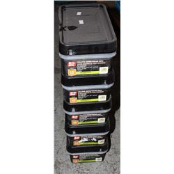 5 CASES OF GRIP-RITE COLLATED SIDING/FENCING NAILS