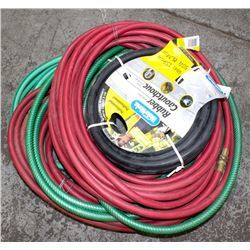GROUP OF 4 ASSORTED GARDEN HOSES