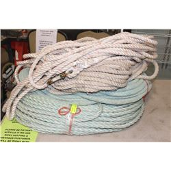 BUNDLE OF UNKNOWN LENGTH ROPE W/ CLAVICE
