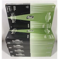 FIVE BOXES OF NITRILE DISPOSABLE GLOVES