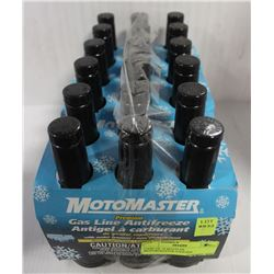 CASE OF 18 BOTTLES MOTOMASTER GASLINE ANTIFREEZE