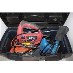 TOOLBOX WITH BLACK & DECKER DUAL ACTION SANDER,