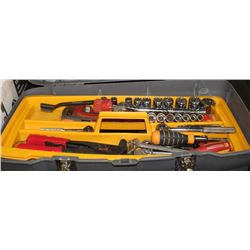 WORKFORCE TOOL BOX WITH ASSORTED TOOLS.