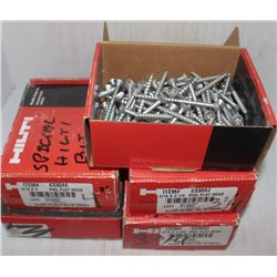 5 ASSORTED CASES OF SPECIALIZED HILTI SCREWS