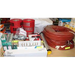 LARGE MISC. LOT INCLUDING: ABRASIVE WIRE DISCS,