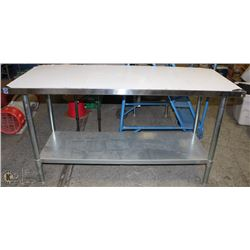 "60"" X 24"" STAINLESS STEEL 2-TIER PREP-TABLE"